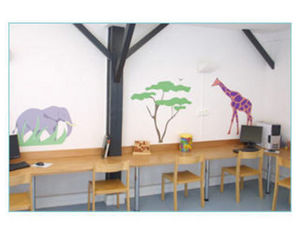 DECOLOOPIO - paysage de la savane - Children's Decorative Sticker