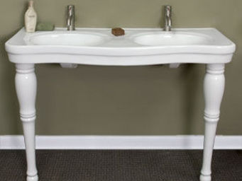 THE BATH WORKS - double - Basin Pedestal