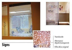 Variance store - sings - Privacy Adhesive Film