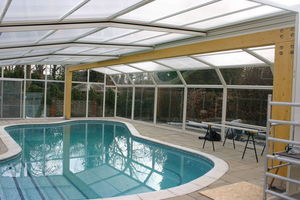 Telescopic Pool Enclosures - rhodos - High Telescopic Pool Cover