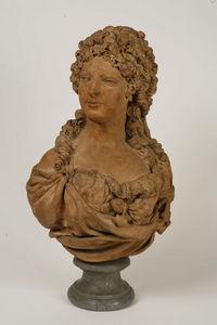 Philippe Vichot - buste de femme en terre cuite - Bust Sculpture