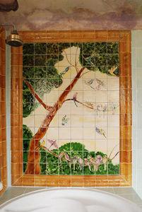 Genevieve Bonieux - oiseaux (160 x 180 cm) - Personalised Tile