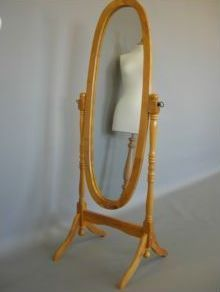 Smart shopfittings - pine cheval mirror - Full Length Mirror