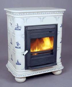 Ceramique Regnier - manon personnages bleu - Closed Fireplace