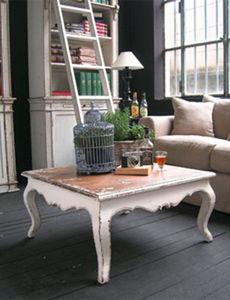 BLEU PROVENCE - vintage blanc - Square Coffee Table