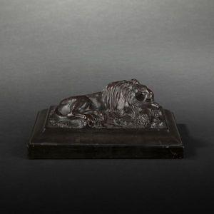 Expertissim - presse-papiers orné d'un lion - Sculpture
