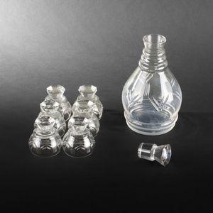 Expertissim - petit service à porto en cristal taillé - Port Glass
