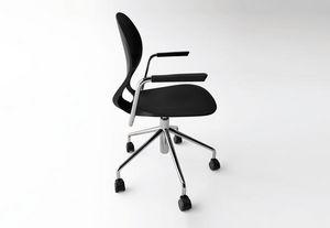 Kristalia - pikaia with castors - Swivel Chair