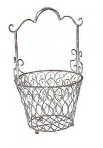 Demeure et Jardin - panier en fer forgé taupe - Basket