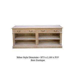 DECO PRIVE - meuble tv en bois ceruse bibus new - Media Unit