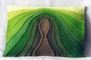 EMOKE - verte-tige 40x35 cm - Modern Tapestry