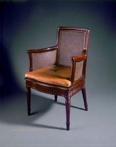 Aveline - fauteuil canné de canabas - Armchair