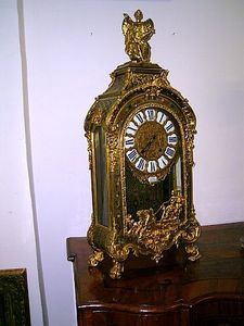 FACINCANI GALERIE - cartel en marqueterie boulle xviiième - Antique Clock
