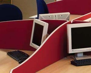 Logic Office Group - desk up wave screen - Office Screen