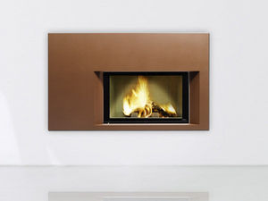 FONDIS®-ETRE DIFFERENT - epure asymetrique - Closed Fireplace