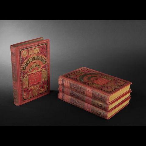 Expertissim - Old book-Expertissim-VERNE (Jules). Ensemble de 4 volumes