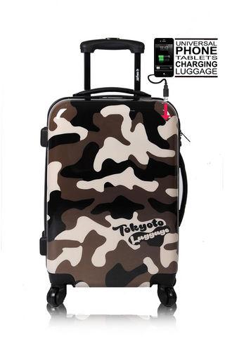 TOKYOTO LUGGAGE - Suitcase with wheels-TOKYOTO LUGGAGE-CAMOUFLAGE