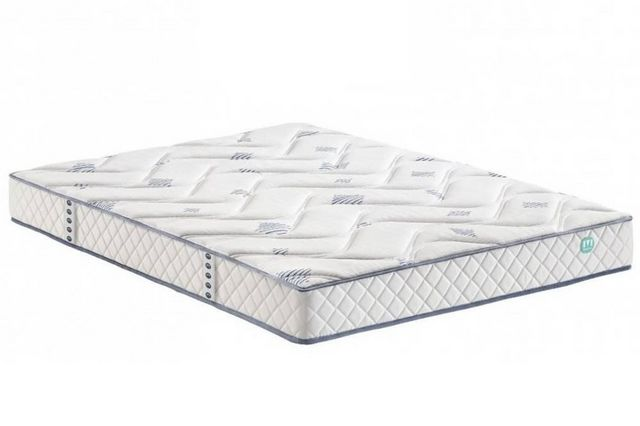 WHITE LABEL - Spring mattress-WHITE LABEL-Matelas TONKAI MERINOS longueur couchage 190cm épa
