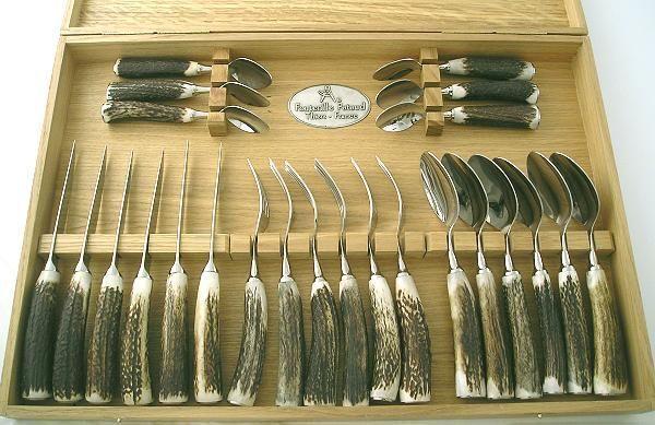 Fontenille Pataud - Cutlery set-Fontenille Pataud-cerf