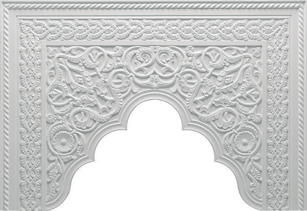 Staff Decor - Pediment-Staff Decor-B700