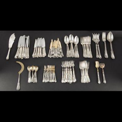 Expertissim - Cutlery set-Expertissim-Ménagère de couverts en argent russe HEMPEL.