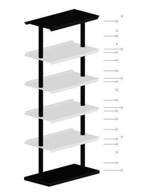 Chameleon-decor - Shelf-Chameleon-decor-Black and White