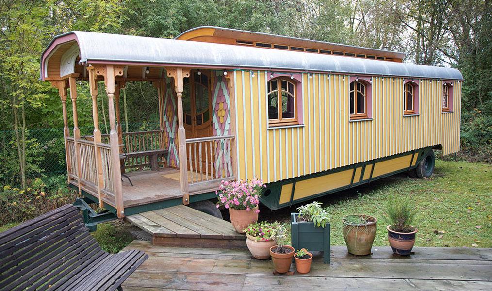 Atelier Du Rivage Holzwohnwagen Wohnwagen Gartenhäuser, Gartentore...  |