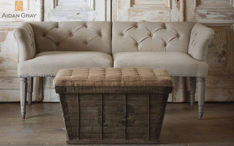 Aidan Gray Home Sitzkissen Schemel und Beinauflage Sitze & Sofas Eingang | Land