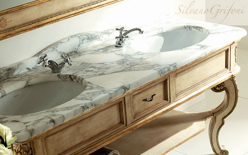 Silvano Grifoni Doppelwaschtisch Möbel Badezimmermöbel Bad Sanitär Badezimmer | Klassisch