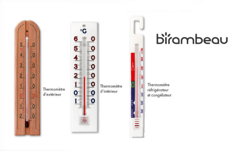 Birambeau Kühlschrankthermometer Küchengeräte Küchenaccessoires   