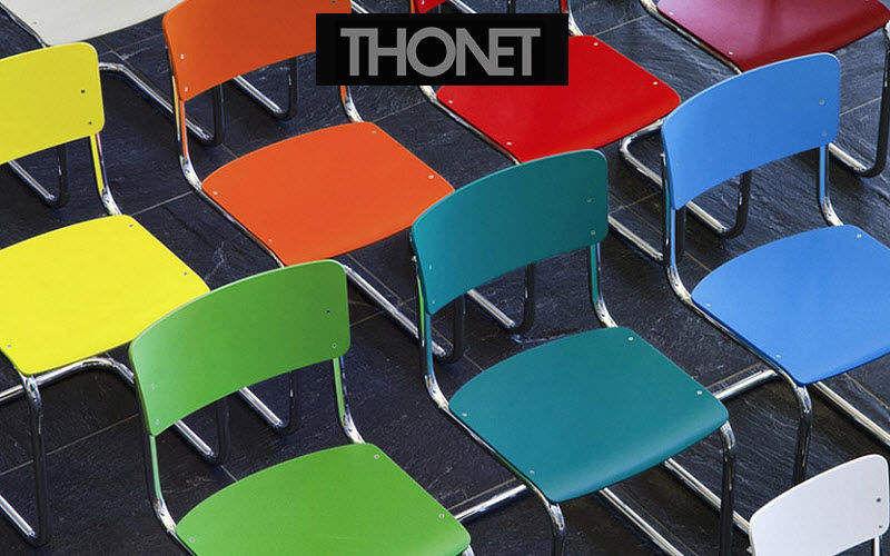 Thonet Gemeinschafts Stuhl Bürostühle Büro  |