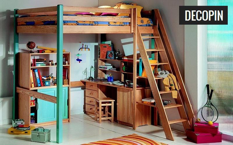 DECOPIN Hochbett kind Kinderzimmer Kinderecke  |