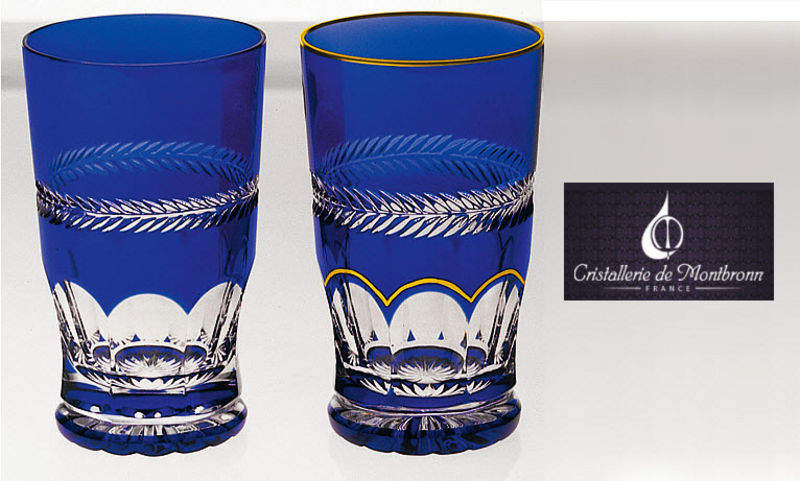 Cristallerie de Montbronn Halbliterglas Gläser Glaswaren  |