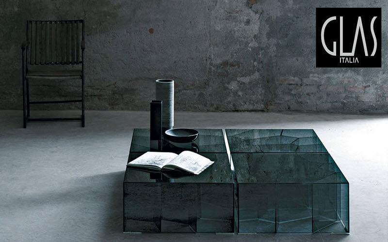GLAS ITALIA Couchtisch quadratisch Couchtische Tisch  |