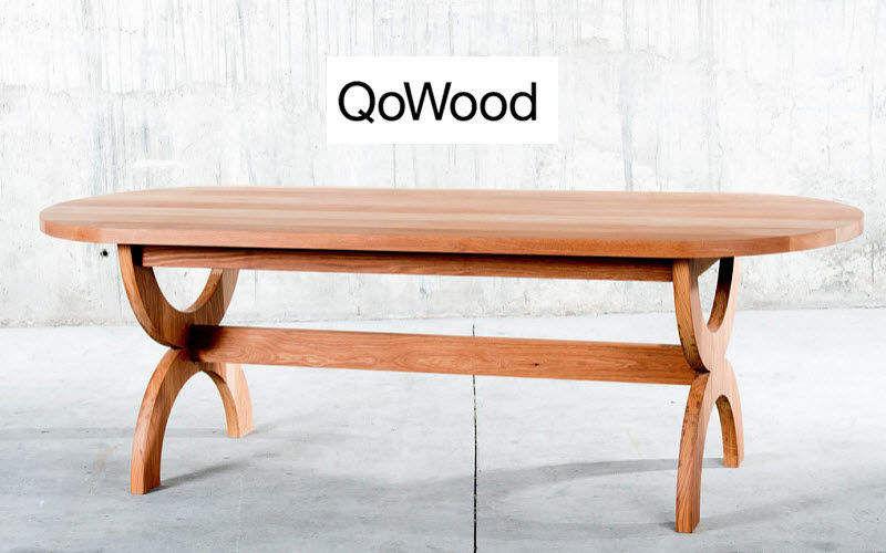 QOWOOD Ovaler Esstisch Esstische Tisch  |