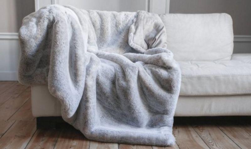 nuance pivoine Plaid Bettdecken und Plaids Haushaltswäsche  |