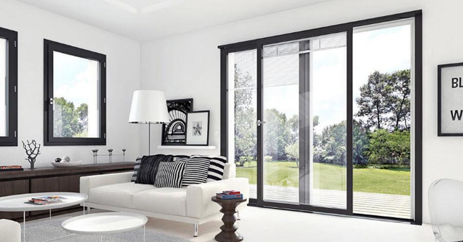 MILLET Schiebeglasfensterfront Balkon-/Terrassentüren Fenster & Türen  |