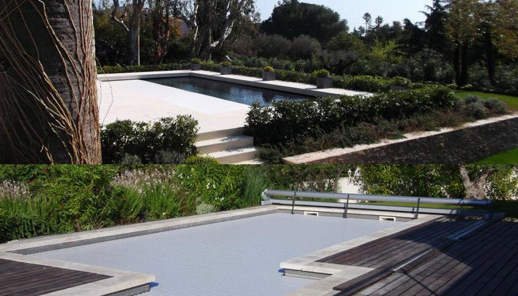 Silver Pool Automatische Swimmingpoolabdeckung Schwimmbadabdeckung Schwimmbad & Spa Garten-Pool | Design Modern