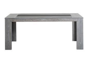 WHITE LABEL - table de repas chêne grisé - titus - l 190 x l 90 - Rechteckiger Esstisch