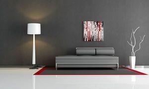 JOHANNA L COLLAGES - city 5 red touch - Zeitgenössische Gemälde