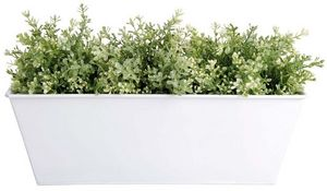 Esschert Design - jardinière en zinc blanc 40x15x15cm - Blumenkasten