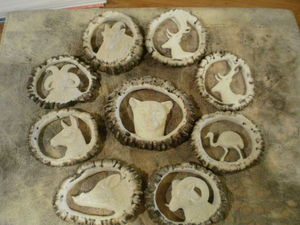 Astas Patagonicas - talas en coronas de volteo - Skulptur