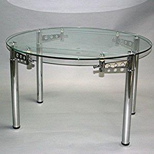 Smart Boutique Design - table ronde en verre à rallonge extensible strass  - Runder Esstisch