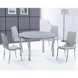 Smart Boutique Design - ensemble table ronde en verre extensible et ses 4  - Runder Esstisch