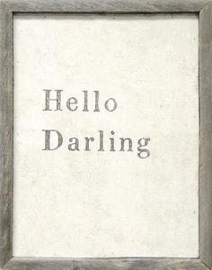 Sugarboo Designs - art print - hello darling - Dekobilder