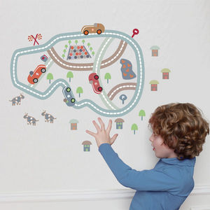 ART FOR KIDS - stickers circuit imaginaire - Kinderklebdekor