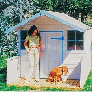 Cihb - maison enfant avec terrasse et plancher - Kindergartenhaus