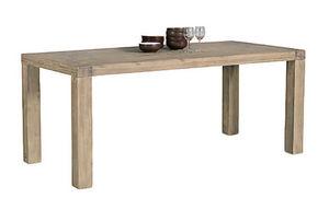 INWOOD - table en acacia nevada 200x100x77cm - Rechteckiger Esstisch