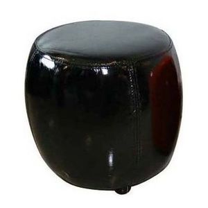 International Design - pouf rond pvc - couleur - noir - Sitzkissen