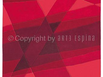 Arte Espina - tapis de salon luminous rouge 140x200 en acrylique - Moderner Teppich